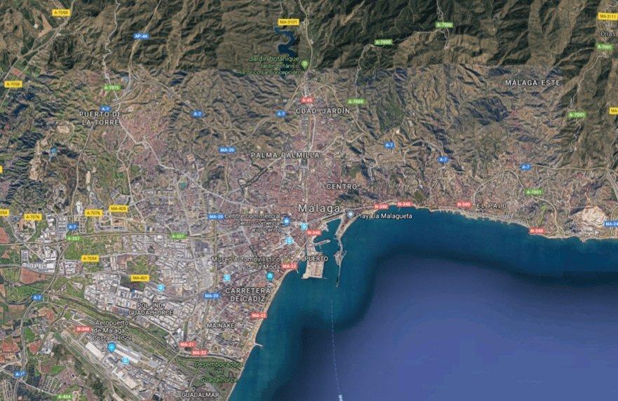Coucher de soleil sur Malaga