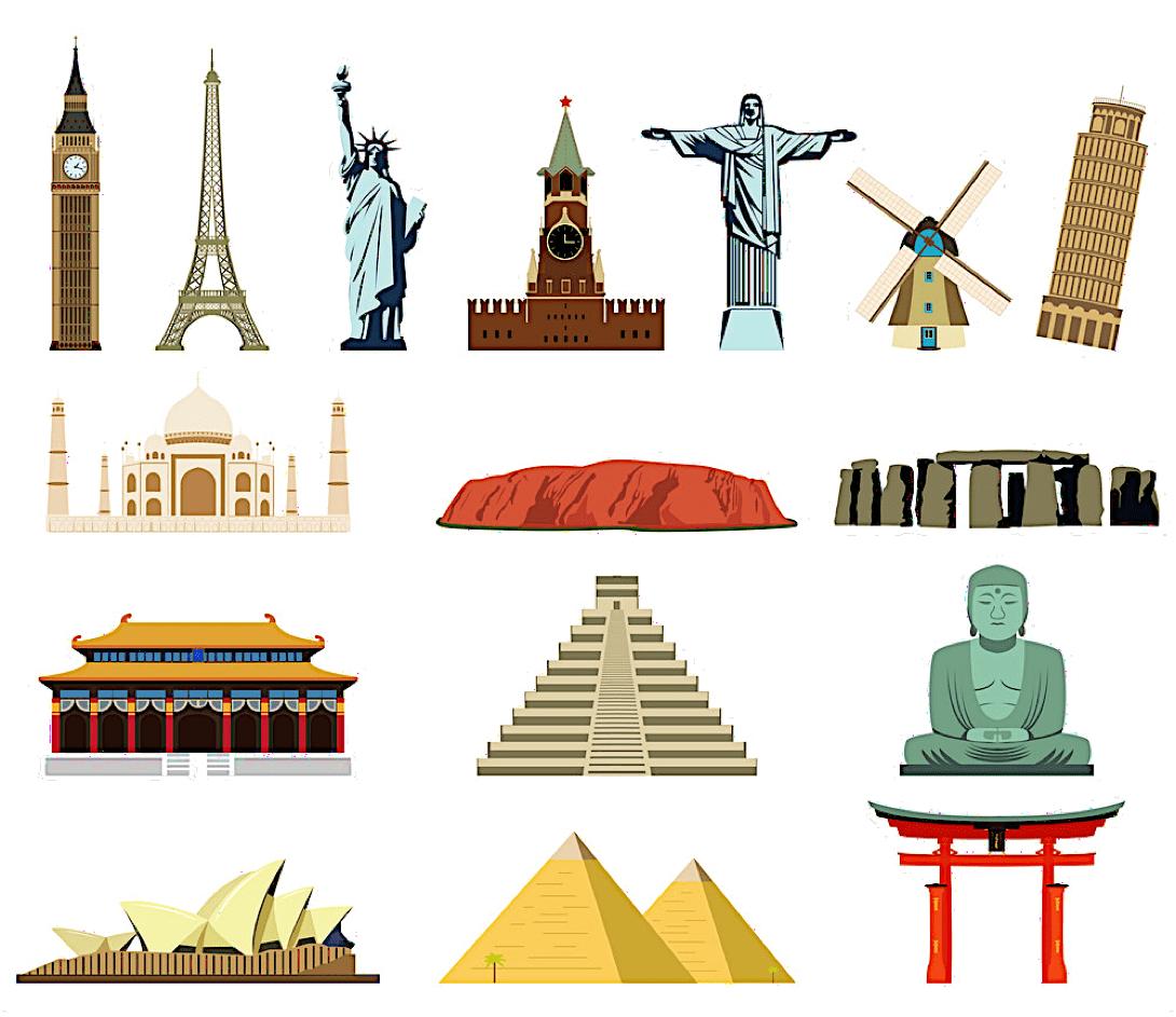 Emblèmes des grandes villes monde